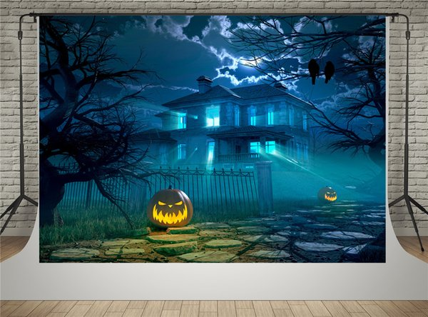 Kate Halloween Night Backdrops for Photographer Fantasy Sky Castle Background Pumpkin Backdrop Shooting for Halloween Party