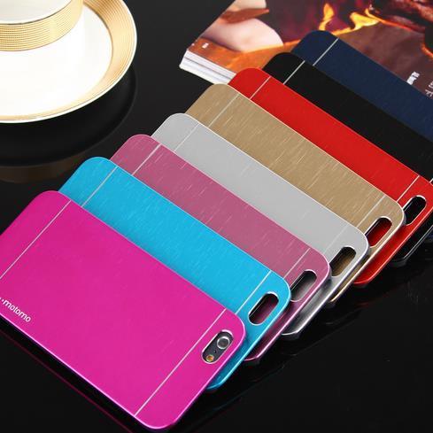 Iphone 7 Case Motomo Luxury Aluminum Brushed PC Hard Back Cover Skin Ultra Thin Slim Brush Cases For iPhone 6 Samsung DHL SCA107