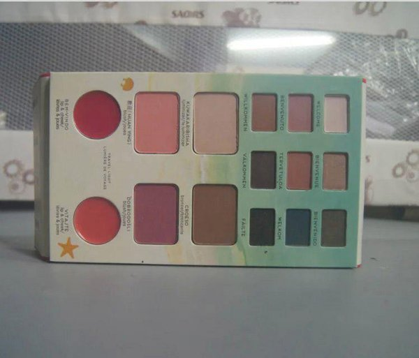 36pcs-Wholesale branded cosmetics kit voyage travel makeup palettes with eyeshadow/bronzer powder/blusher/lip cheek gel,free DHL shipping