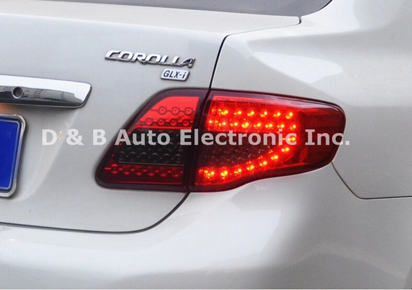 best selling [ Free Shipping ] Brand-New Led Rear Lights Led Back Lights Led Tail Lights For Toyota Corolla 2007-2010'