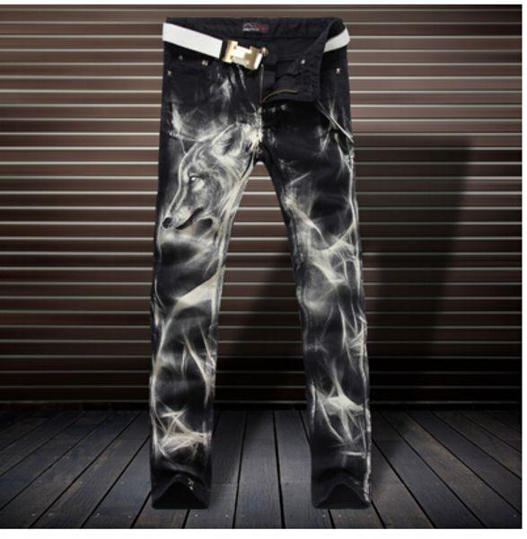 El nuevo sello jeans personalidad de la moda Metrosexual juventud jeans rectos pantalones delgados Club
