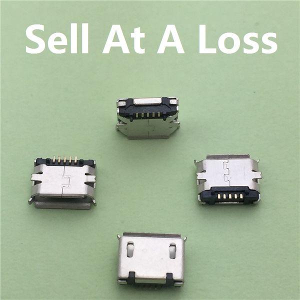 Wholesale-10pcs / lot Micro USB Typ B Buchse 5Pin SMT Buchse G18 Jack Anschluss Port PCB Board Lade Kostenloser Versand