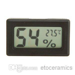 Mini température numérique humidité mètre jauge thermomètre hygromètre LCD Aquarium Températures Instruments Fed DHL gratuit 1000pcs / lot