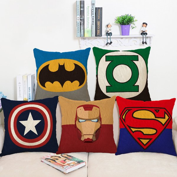 best selling Hero Collection of Marvel Comics Abstract Art Pillow Case Cover Massager Decorative Pillows Warm Home Decor Gift