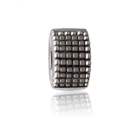 Fit Pandora Charm Bracelet European Silver Bead Charms Safe Lock Clip Stopper Beads DIY Snake Chain For Women Bangle & Necklace Jewelry
