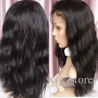 Lace Front Wig Body Wave Natural Color Malaysian Hair Lace Front Wig Medium Brown Color Cap For Black Women