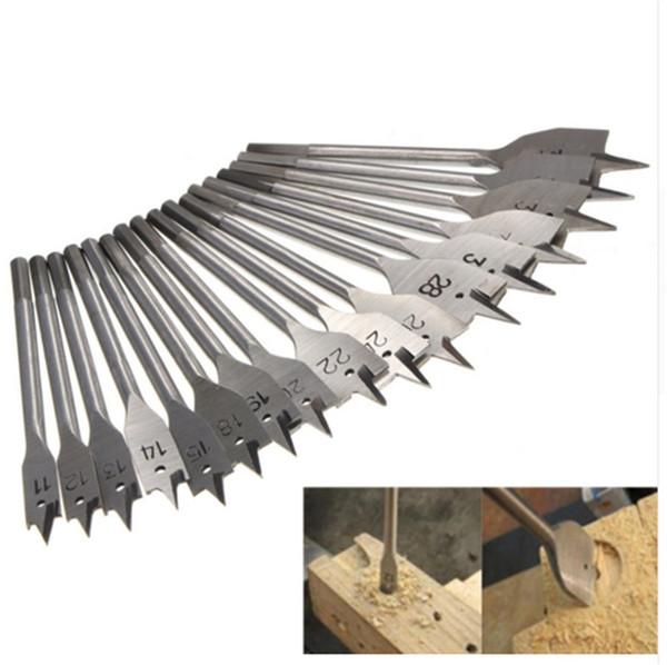 17Pcs 11-38MM Machine Flat Wood Drill Bits - All Metric Sizes Spade Bit Wallated High Quality Power Tools