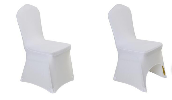 High quality 100 pcs Universal White Polyester Spandex Wedding Chair Covers for Weddings Banquet Folding Hotel Decoration Decor