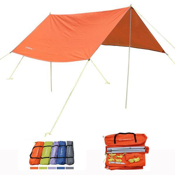 Wholesale- AOTU Brand Silver Coating Anti-UV Ultralight Sun Shelter Beach Tent Waterproof Multifuction Outdoor Camping Sunshelter 3Mx3M