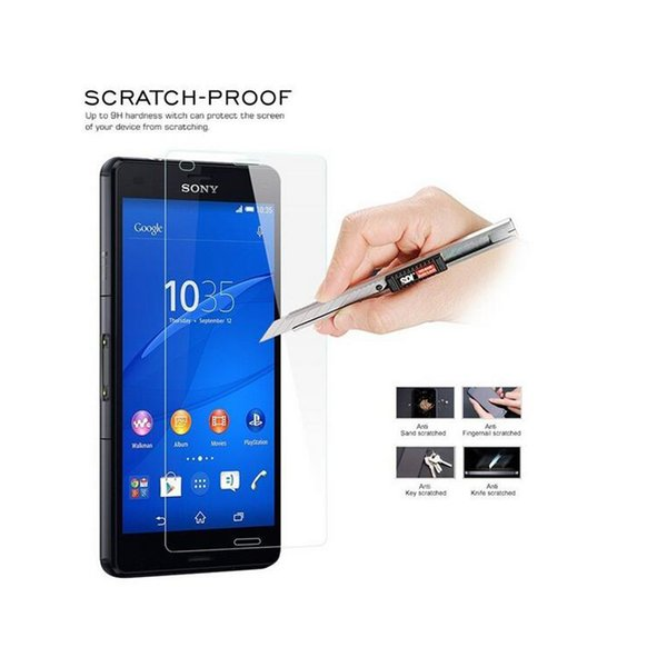 For SONY Z5 Mini Z4 Z3 Plus Explosion proof LCD Clear Tempered Glass Transparent Ultra thin Screen Protector Film With Retail Packing