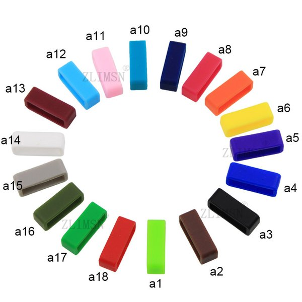 Black White Watchbands 4pcs 14mm-28mm Strap Loop Silicone Rubber Watch Bands Accessories Holder Mens Locker Watch Band18color G-GK01