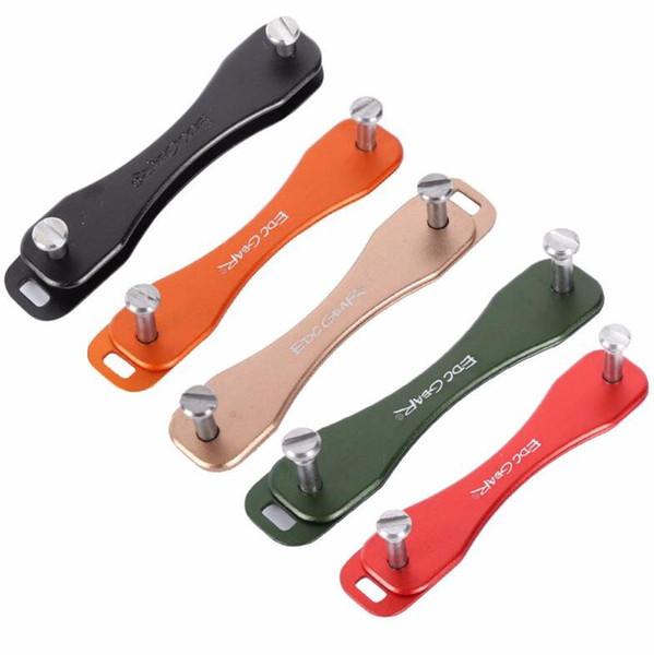 EDC GEAR Aluminum Hard Oxide Key Holder Clip Keys Organizer Folder Smart Keychain Outdoor Small Tools Free Shipping