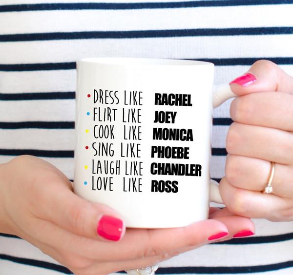 Al por mayor-Friends Mug Friends TV SHOW tazas tazas de café Tazas caseras calcomanías taza de vino whisky cerveza tazas de cerámica
