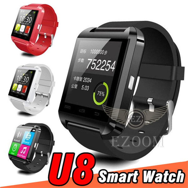 U8 Smart watchs Bluetooth Smartwatch U8 U Watch VS DZ09 A1 Smart Watch Wrist Watches for ios iPhone Android Free shipping DHL