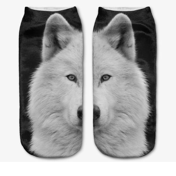 Großhandels-Neue Ankunft! 3D Digital gedruckte Tiersocken Unisexart und weise nette kurze Socken-Mischungs-Farbe für Mann-Frauen-Tiefschnitt-Kleid-Sport-Boots-Socke