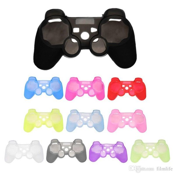 top popular For PS3 Gamepad Silicone Cover Rubber Case Gel Protective Cover for Playstation 4 Controller Controle Joystick 2019