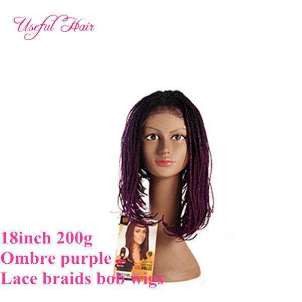 18inch ombre purple box lace wig