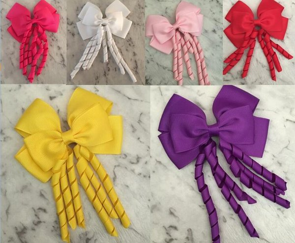 10% OFF !196 colors Girls Bow Hair Clips 4.5inch Large Bow Big Korker School Dance hair bow Party Accessories Corker 50pcs/