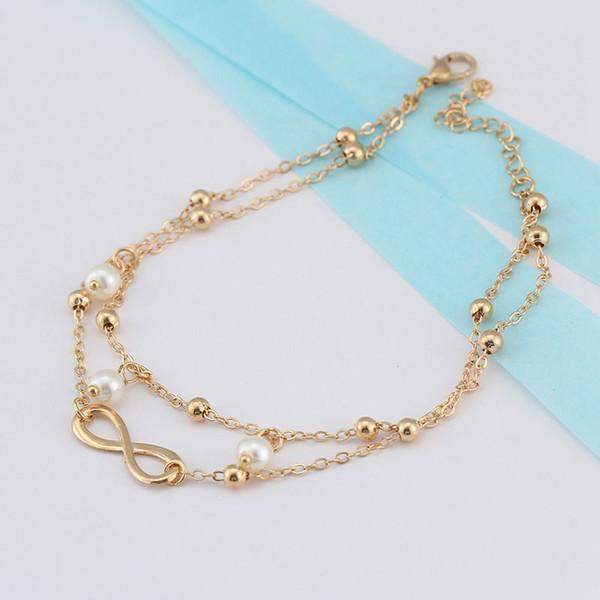 Европа и Соединенные Штаты мода продажа жемчужина 8-контактный браслет ювелирные изделия ручной бисером двойной браслет партии подарки