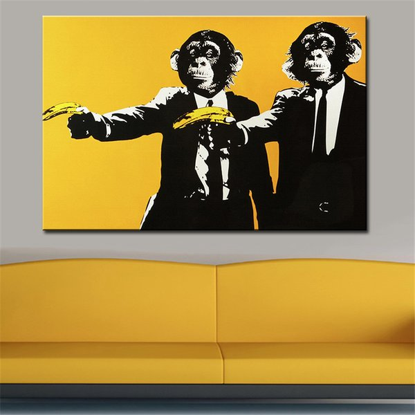 Andy warhol banana scimmia immagini murali pittura a olio creativa pittura su tela top idea decor wall art per la pittura murale no incorniciato