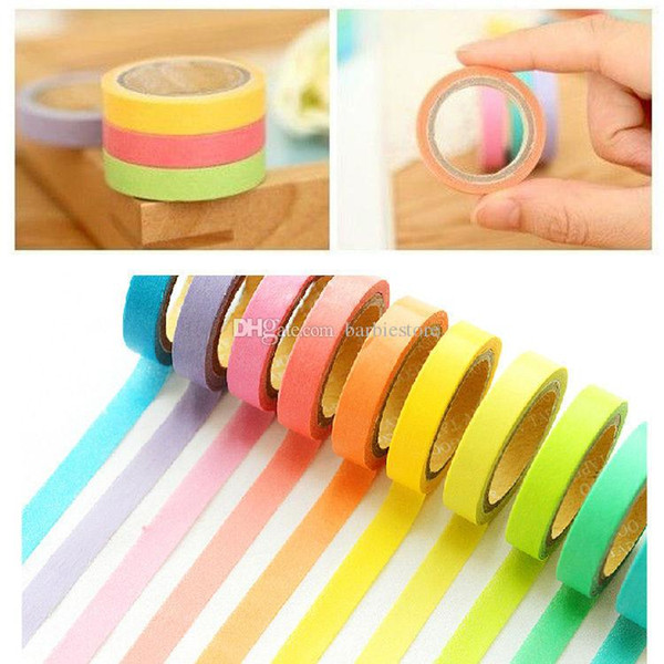 best selling 2016 New 0.75cm 1.5cm Washi Tape Masking Scrapbook Decorative Paper Adhesive Sticker DIY E00226 OST