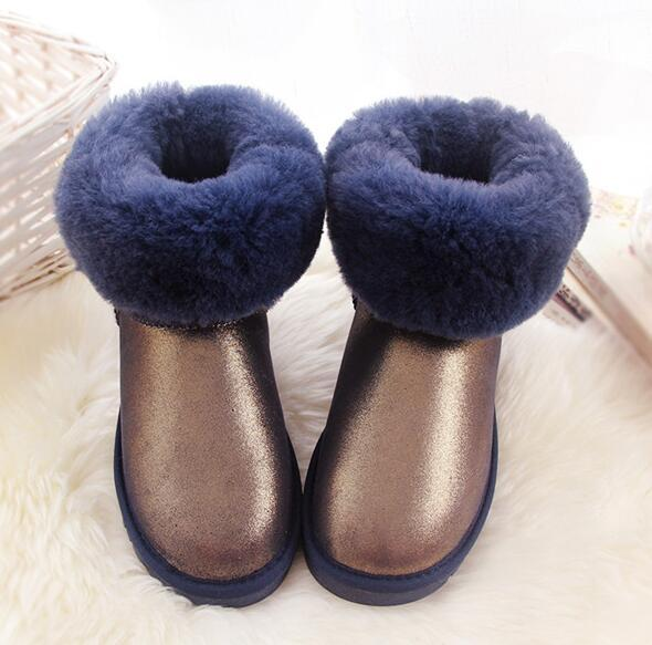 best selling hot new fast shipping new Real Australia High-quality Kid Boys girls children baby warm snow boots Teenage Students Snow Winter boots 1 pair