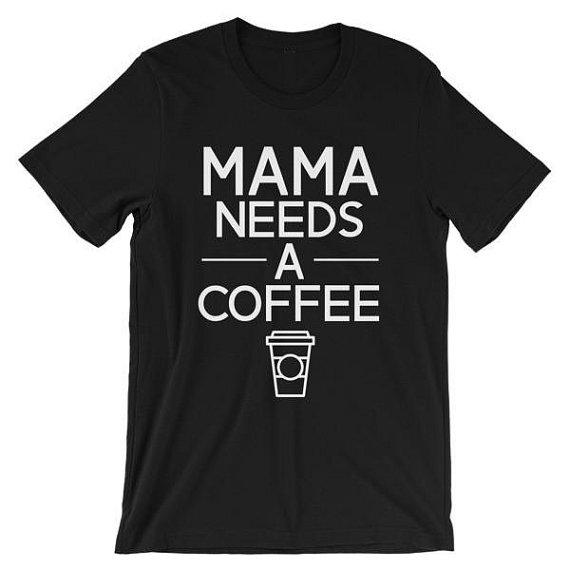 Wholesale- Mama Needs Coffee Letters Print Women t shirt Cotton Casual Funny tshirts For Lady Top Tee Hipster Drop Ship Z-505