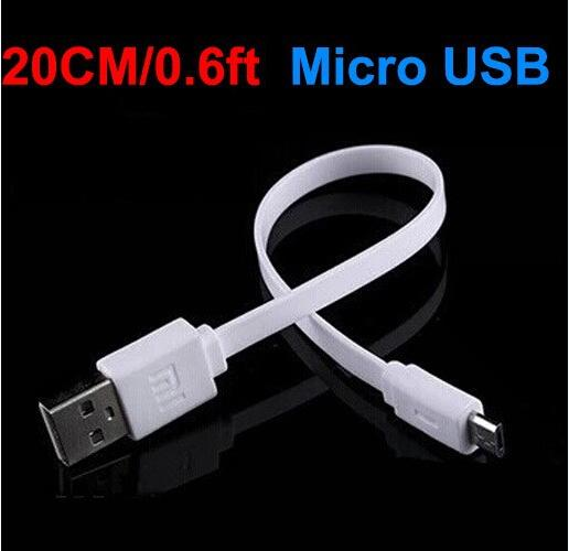 Newest Micro USB 20cm/0.6ft Short Noodle USB charging cable No Data Sync Cable Line For S3 S4 i9100 i9300 Power Bank