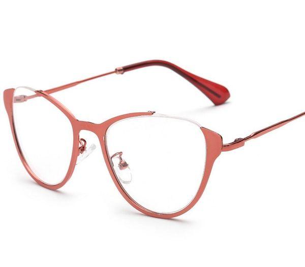 Wholesale- R10 Optical Glasses Frame Semi rimless Eyeglasses With Clear Glass Myopia Frames Women Clear Transparent Glasses Women's Men's