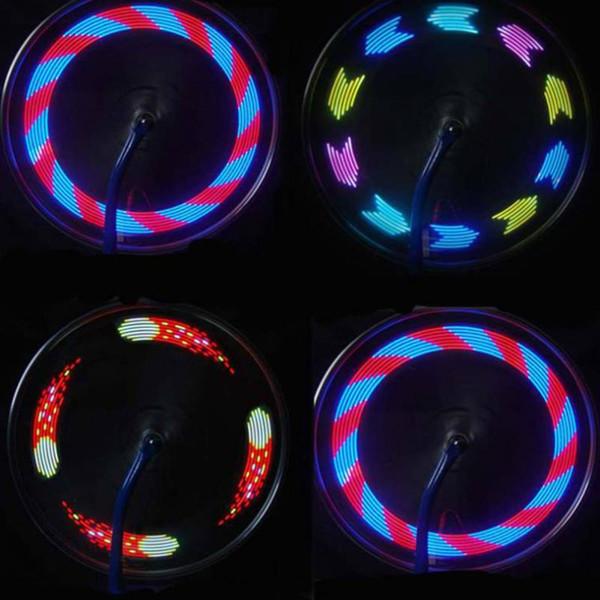 top popular HOT SALE Night Cycling Bike Lights Shock Sensor Wheel Spoke LED Lamp Universal Mountain Bicycle Wheel Tire Decoration Colorized 14 LED Light 2019