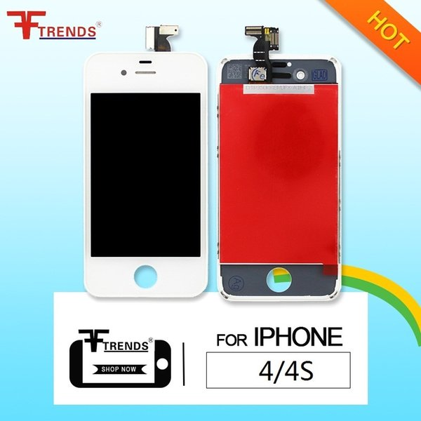 for iPhone 4 4S LCD Display & Touch Screen Digitizer Full Assembly Replacement Repair Parts 200pcs/lot Black White Free Shipping