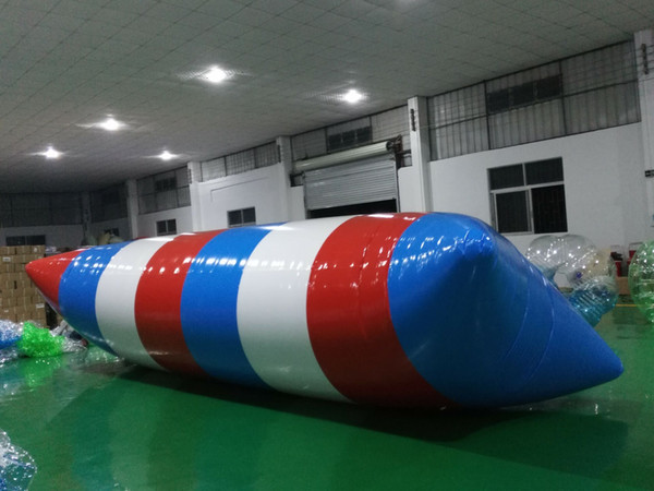 top popular 9*3m Inflatable Water Blob Jump Pillow Water Blob Jumping Bag Inflatable Water Trampoline Jump Bed 2021
