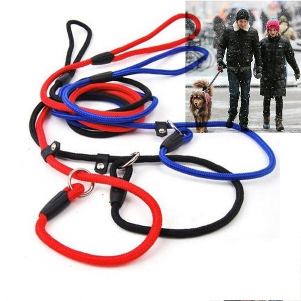 Classic Pet Dog Puppy Nylon Rope Training Leash Lead Strap Adjustable Traction Collar With 3 Colors