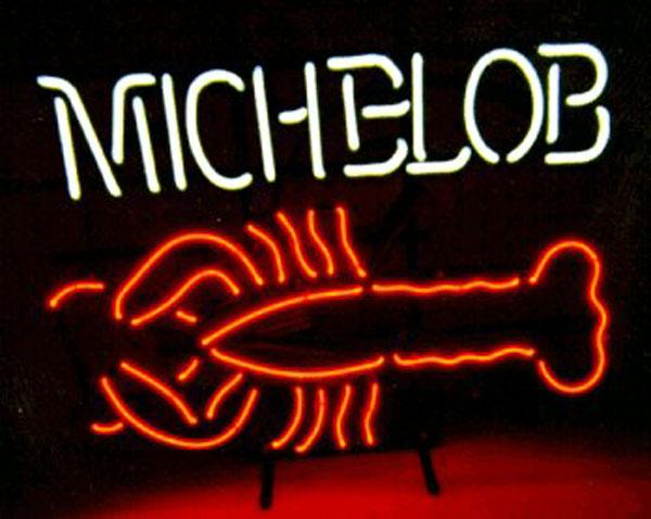 "Michelob Lobster Neon Sign Custom Handmade Real Glass Tube Store Beer Bar Restaurant Sea Food Fish Advertising Display Neon Signs 19""x15"""