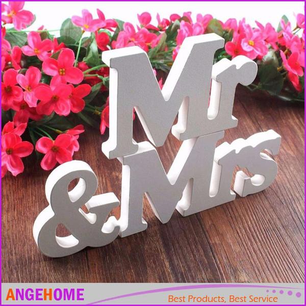 Wedding decorations 3 pcs/set Mr & Mrs romantic mariage decor Birthday Party Decorations Pure White letters wedding sign