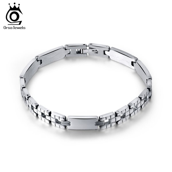 Men Women Jewelry Bracelet links & chains Silver Color Stainless Steel Bracelet Bangle Male Accessory Wholesale GTB33
