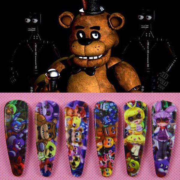 Freddy Fazbear для девочек Заколки для волос детские мультипликационные аксессуары для волос ABS Metal Five Night At Freddy's Style заколки для волос Заколки