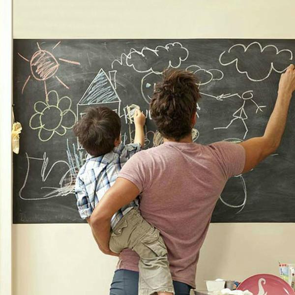 Nuovo vinile lavagna adesivi murali lavagna smontabile decalcomanie Grande regalo vinilos decorativos pared Home Decor bambini regali E5M1 ordine $ 18no t
