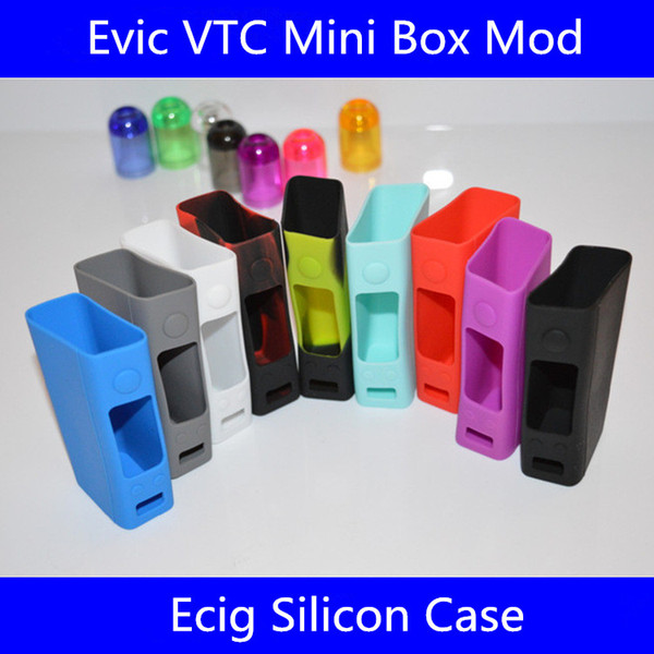 Ecig Silicon Case Skin Cases Colorful Soft Silicone Sleeve Cover Skin For EVIC VTC istick pico Mini Box Mechanical Mod free DHL