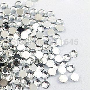 20mm 200pcs/bag Crystal Clear Flatback Acrylic Rhinestones ,Acrylic Stone Beads for Nail Art Rhinestones Round