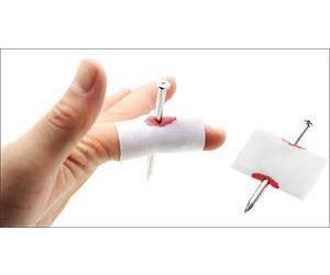 Hot sale Prank Fake Nail Through Finger Trick Magic Props April Fool Halloween Party Toy Fun Toys Drop Shipping