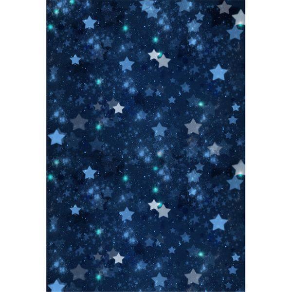 Dark Blue Night Sky Glitter Sterne Fotografie Kulissen Vinyl Baby Neugeborene Foto Shoot Tapete Kinder Kinder Studio Hintergrund