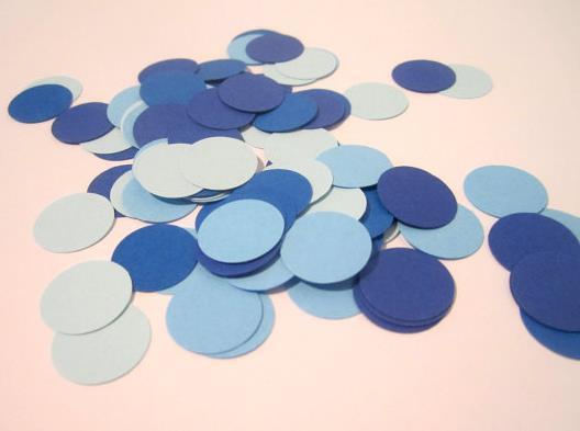 barato Custom 150pcs glitter azul marino y azul confettis boda mesa dispersa decoraciones nupciales de la fiesta de despedida de soltera de la boda de Navidad