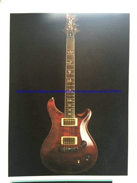 top popular Best selling RPS electric guitar ,see thru red,dark brown neck back ,gold parts ! 2020