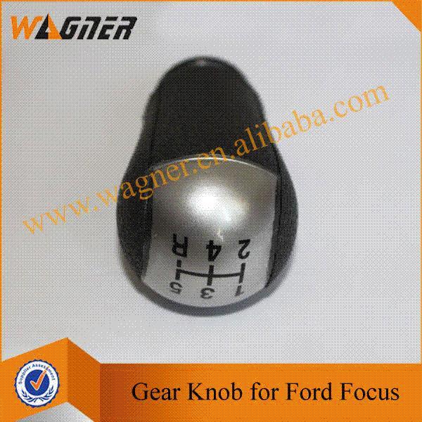 Gear Shift Knob 5 Speed Silver Cap for Ford Focus MK2(04-08) Mondeo MK3 (00-07) MUSTANG (05-12) Fiesta MK6 (02-08)