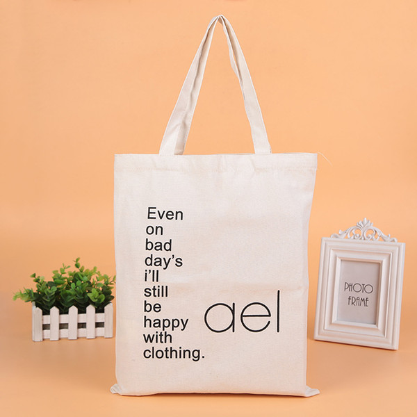 top popular large shopping bags custom canvas shopping bag christmas party canvas bags folding bags reusable portable handle Bag for travel grocery 2019