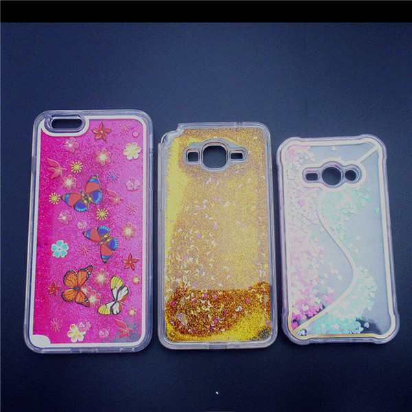 New Type Glitter Star Liquid Sand Cell Phone Case for iPhone6 Cartoon Quicksand Mobile Phone Cover Case