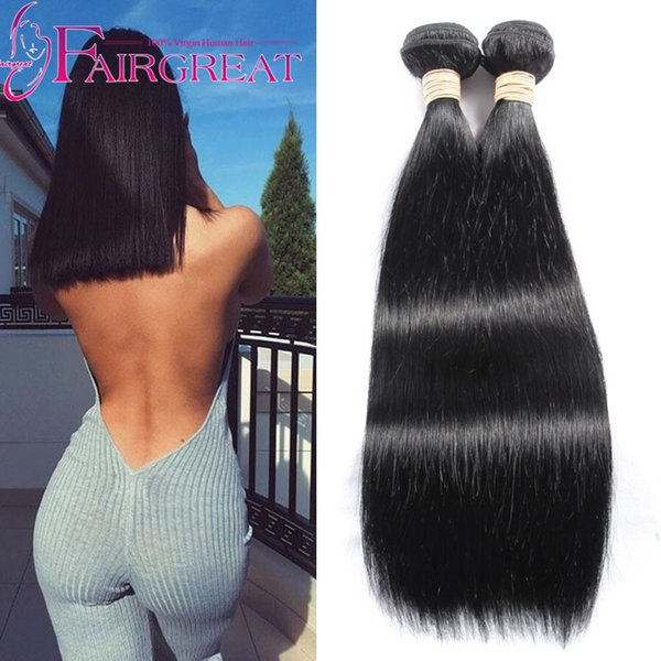 Peruvian Indian Malaysian Brazilian Mongolian Human Straight Hair Weave Bundles 2Pcs/lot Cheap Human Hair Extensions Natural Color