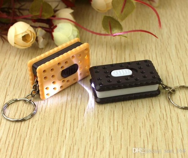free shipping Square crackers with light keychain special wholesale strange new commodity spread the supply hot creative gifts
