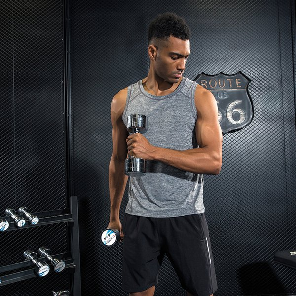 Brand Mens Vest Gyms Tank Tops Bodybuilding Fitness Men Quick Dry Singlets Plus Size Sporting O-Neck Sleeveless T Shirt Men